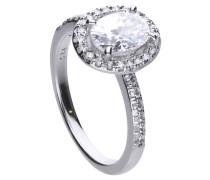 Ring  mit weißem -Zirkonia und ovalem Ring-Kopf 6115131082180