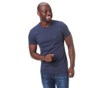 T-Shirt, Streifen, Brusttasche, gummierter Print