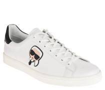 Sneaker, Leder, Schnürung, herausnehmbare Sohle