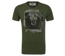 T-Shirt, Baumwolle, Print, verlängerter Rücksaum
