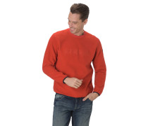 Sweatshirt, Rundhalsausschnitt, Logo-Stickerei, Fleece