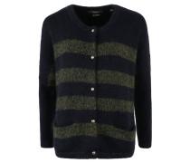 Strickjacke, Wolle, Mohair-Anteil, überschnittene Schulter