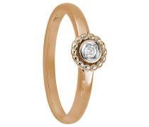 Ring, mit Diamant, Roségold 375