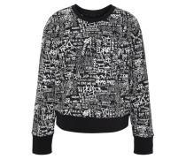 Sweatshirt, All-Over-Print, Rippenbündchen