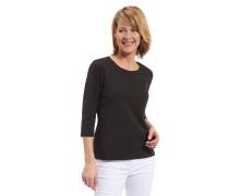 Shirt, 3/4 Arm, Bio-Baumwoll-Mix, uni