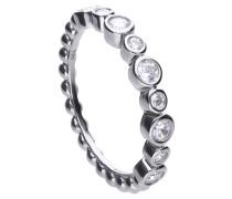 Ring  mit weißen Zirkonia-Steinen