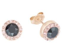 Ohrstecker rund mit mehrfarbigen Kristallen 9063192 rosevergoldet