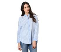 Hemdbluse, Streifen, Knopfleiste, verlängerte Rückenpartie