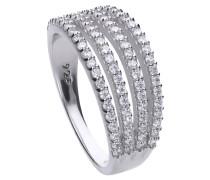 Ring  mit weißen Zirconia-Steinen ct 0,84