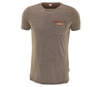 T-Shirt, Brusttasche, meliert