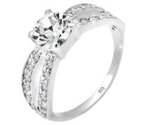 Ring Solitär Swarovski® Kristall 925 Silber Geschenktip