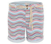Shorts, Straight Fit, Allover-Muster, Gürtel
