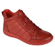 Sneaker, hoher Schaft, Ziernähte, unifarben