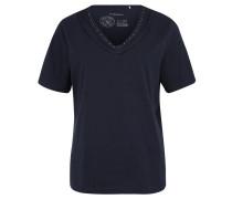T-Shirt, Lagen-Optik, Schmuckstein-Besatz
