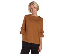 Shirt, 3/4-Arm, Volantärmel, lockerer Schnitt, Baumwolle