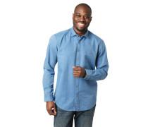 Hemd, Regular Fit, Baumwolle, strukturiert, Stickerei
