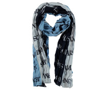 Schal, mehrfarbig, Marken-Print