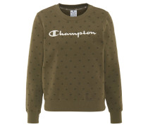 Sweatshirt, Logo-Stickerei, Allover-Print