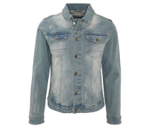Jeansjacke, Used-Look, Waschung