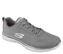 Sneaker, Metallic-Optik, Glitzer-Details, Mesh