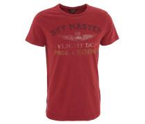 T-Shirt, Front-Print, Noppengarn