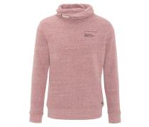 Sweatshirt, meliert, Logo-Print, Schlauchkragen