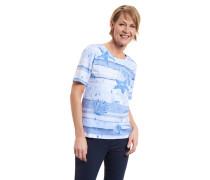 T-Shirt, Baumwoll-Mix, Print, Strass