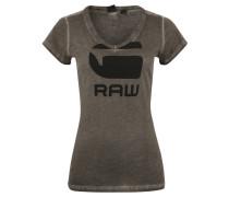 T-Shirt, Logo-Print, Washed-Out-Effekt