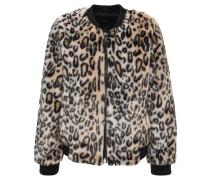 Jacke, Kunstfell, Leoparden-Muster