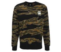"Sweatshirt ""Tertil"", Camouflage-Look, Logo-Print, Ripp-Bund"