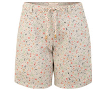 Shorts, Regular Fit, Baumwolle, Allover-Print, Textilgürtel