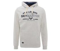 Sweatshirt, Front-Print, Kapuze, breite Kordeln