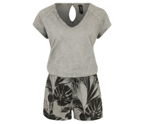 "Jumpsuit ""London"", Tropical Print, Overdyed-Look, Kordelzug"