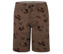 Shorts, Allover-Print, Baumwoll-Stretch