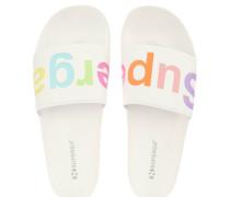 Slides, Marken-Schriftzug, vorgeformtes Fußbett