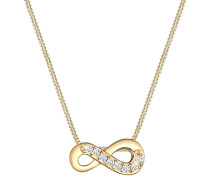 Halskette Infinity Unendlich Liebe Topas 585 Gelb