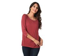 Shirt, 3/4-Arm, meliert, Rundhalsausschnitt