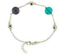 Armband mit bunten Steinen, Sterling Silber 925