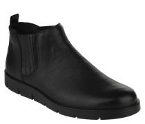 Chelsea Boots, Leder, strukturierter Stretch-Einsatz