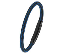 Herren-Armband blau IP BLACK, Edelstahl 2020885