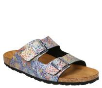 Hausschuhe, schillerndes Mosaik-Muster, Leder-Decksohle