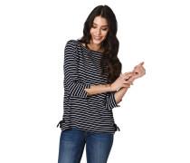 Shirt, 3/4 Arm, Streifen, Binde-Details,, Ärmel-Schlitz