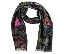 Schal, Fransen, florales Muster