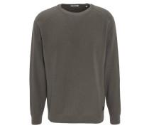 Pullover, Strick, Schurwoll-Anteil, Logo-Patch