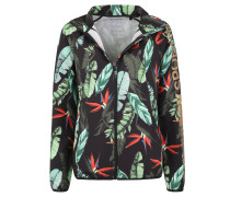 Trainingsjacke, Tropical Print, Kapuze