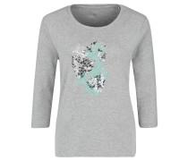 Shirt, 3/4-Arm, Print, Ziersteine, Rundhalsausschnitt