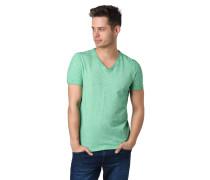 T-Shirt, V-Ausschnitt, Marken-Logo
