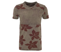 T-Shirt, Long Fit, Baumwolle, Blumenmuster