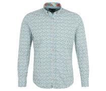 Freizeithemd, Regular Fit, Button-Down-Kragen, Allover-Print