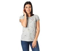 T-Shirt, Cut-Outs, Melange, Allover-Print, Schuh-Motiv